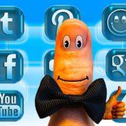 как установить кнопки социальных сетей