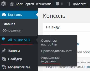 создать xml карту сайта плагин All in one seo pack